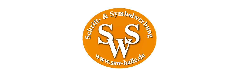 Schrift und Symbol Werbung